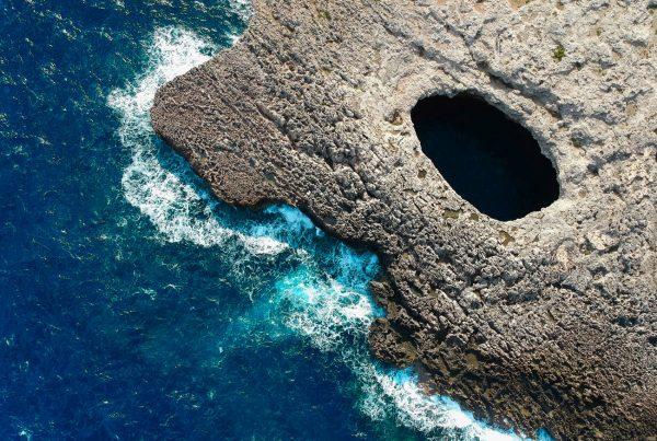 Coral Lagoon Drone Shot